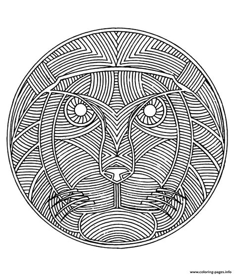hard lion coloring pages free mandala difficult adult to print lion coloring pages