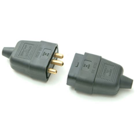 3 pin connector home extension lead accessories electrical plugs