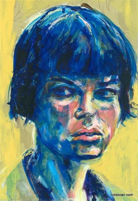 acrylic painting person quot blue bangs quot by jeff wrench in a series of