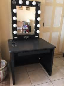 Vanity Mirror With Lights And Table Makeup Vanity Table With Lighted Mirror Home Design Ideas