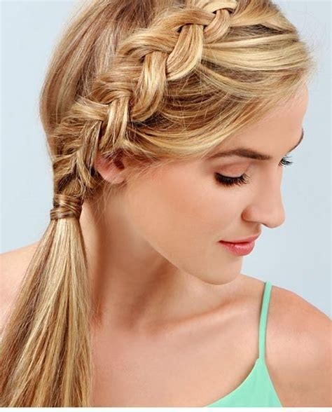 ponytail braid hairstyles braided ponytail hairstyles 40 ponytails with braids