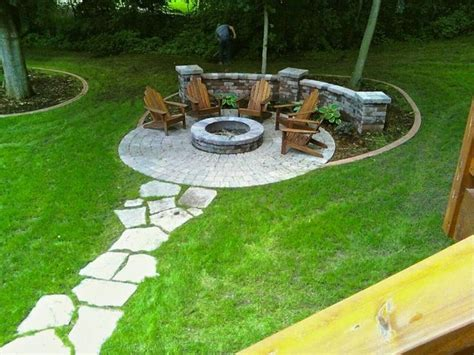 stepping stones for backyard fire pit circle with stepping stone path backyard ideas