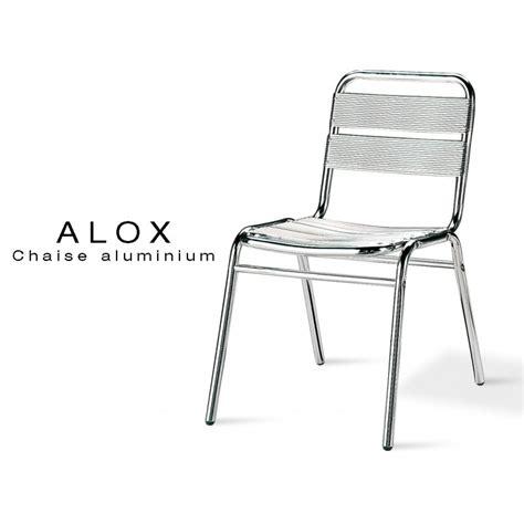 chaise de jardin aluminium chaise aluminium alox pour terrasse de caf 233 et jardin