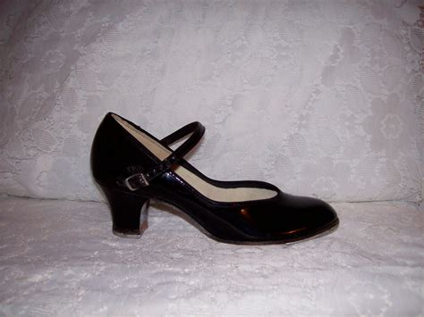 black tap shoes for vintage black patent leather tap shoes by leos size 5