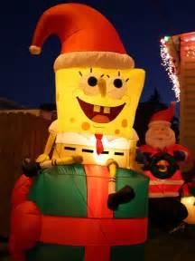 christmas inflatables i a spongebob christmas flickr