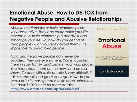 How To Detox From Abuse At Home by Emotional Abuse How To De Tox From Negative And