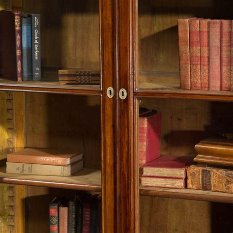 walnut bookcase with glass doors antique italian walnut bookcase with glass doors circa