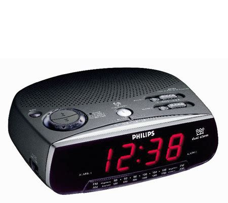 philips aj3220 dual alarm clock radio qvc