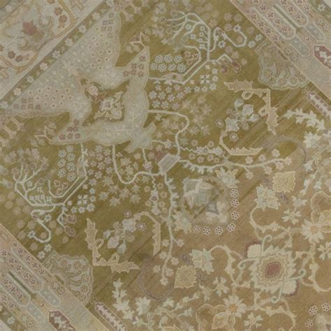 neutral color area rugs antique indian agra area rug in neutral colors for sale at 1stdibs