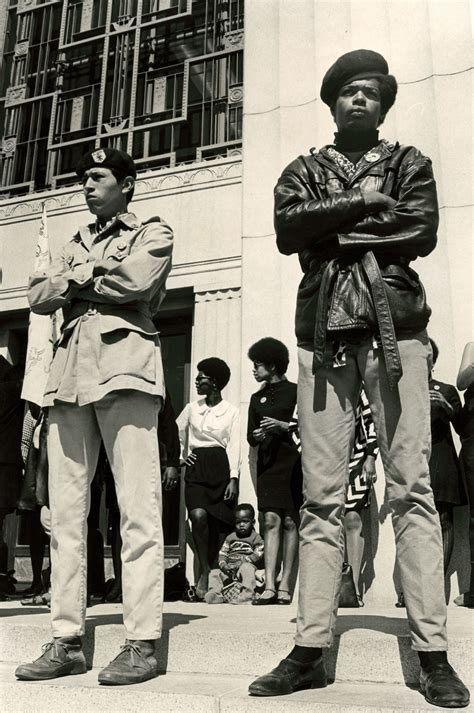 black panther movement 1960s two black panther men standing on the steps of the alameda