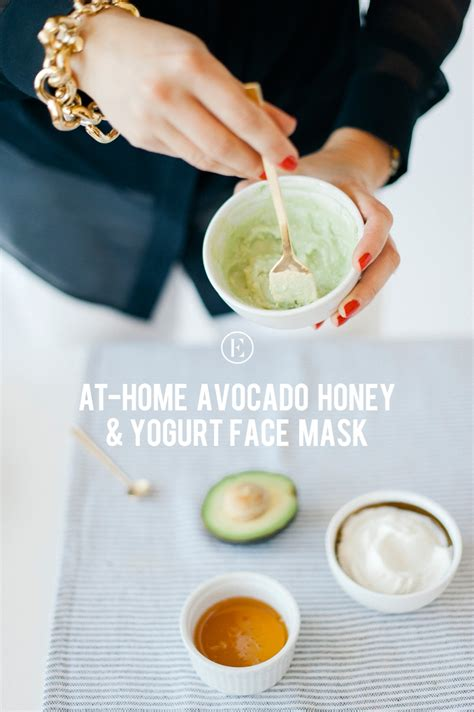 diy honey mask at home avocado honey yogurt mask the everygirl