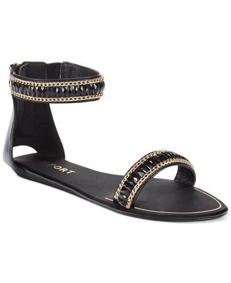 flat rhinestone shoes report loften rhinestone two flat sandals in black