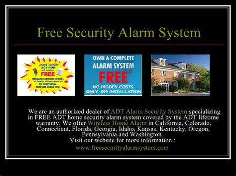 free security alarm system adt wireless security system
