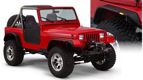 Jeep Yj Flat Fenders Fender Flares Bushwacker Flat Style Jeep Wrangler Yj