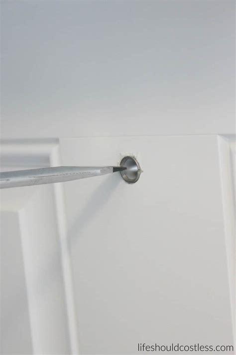diy how to install a peep in your front door