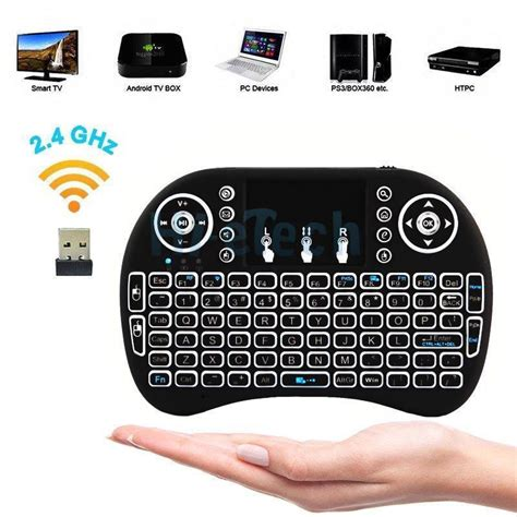 Mini Keyboard Wireless I8 With White Backlight backlight mini i8 wireless keyboard remote touchpad 2 4ghz fly air mouse ebay