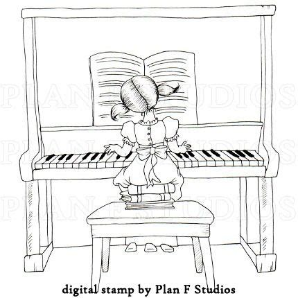 coloring page girl playing piano piano clipart lady pencil and in color piano clipart lady