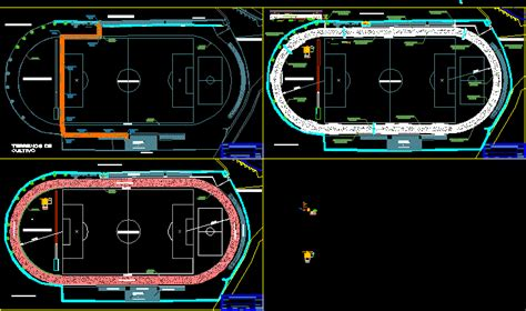 athletics track plants in autocad download cad free