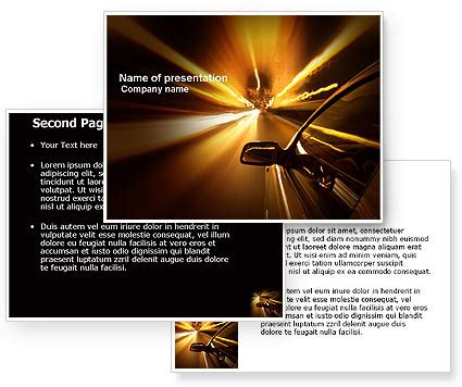 Need For Speed Powerpoint Template Poweredtemplate Com 3 Backgrounds 3 Masters 20 Slides Speed Powerpoint Template