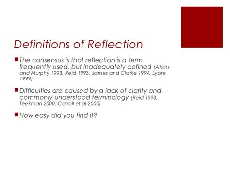 emerging themes definition critical reflection