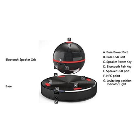 Magic Magnetic Floating Ufo Bluetooth Speaker Moxo X1 Magic Magnetic Floating Ufo Bluetooth Speaker Black Jakartanotebook