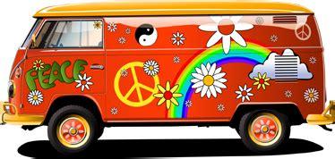 volkswagen van transparent van hippie