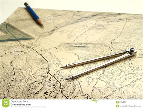 map pencils topographic map with pencil stock photography image 5754232