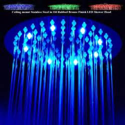 Walk In Shower And Bath Combinations multi color changing stylish solid brass shower head oil