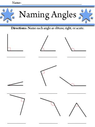 geometry worksheet naming angles a teacher ideas angles worksheet 3rd grade pinterest worksheets