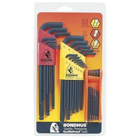 Home Depot L Sets by Bondhus Standard And Metric End L Wrench Sets And Hex