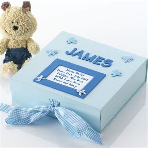 Handmade Baby Keepsake Box - personalised baby memory box the gift experience