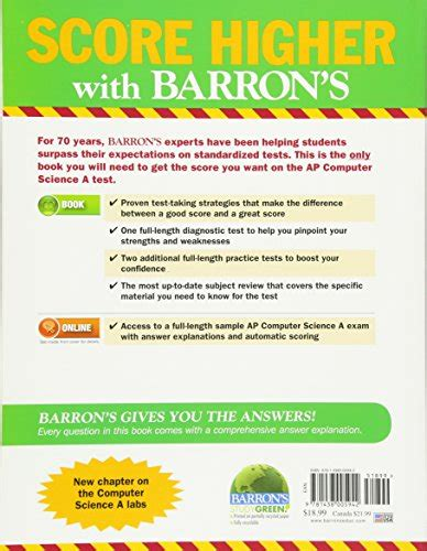 barron s ap computer science a 8th edition with bonus tests books barron s ap computer science a 7th edition considered
