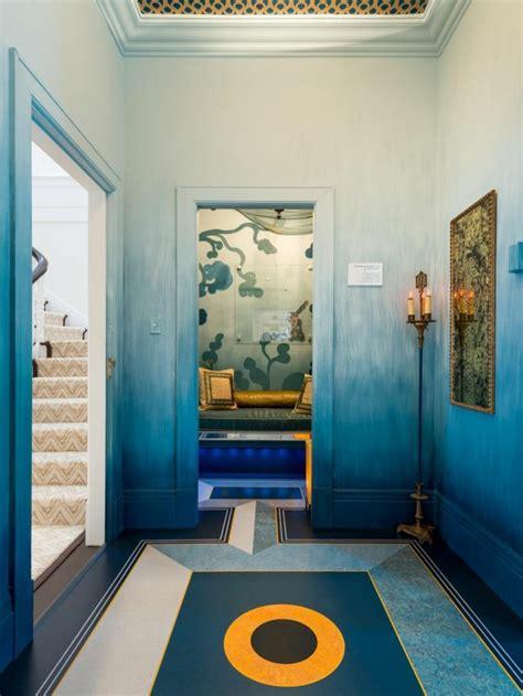 Maravillosa  Pintura Para Escaleras #3: Blaue-wandfarbe-wandfarben-ideen-wandgestaltung-ideen.jpg