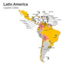 map of central and south america with capitals america map editable powerpoint slides these 62