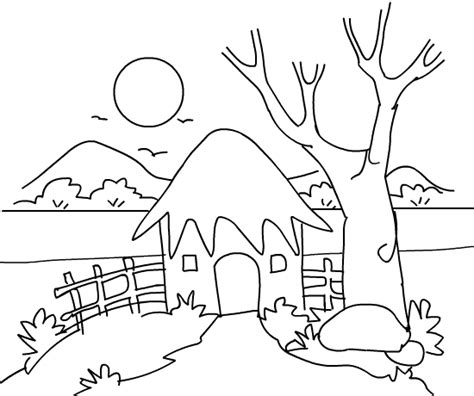 Scenery Coloring Pages 5843 Printable Scenery Coloring Pages