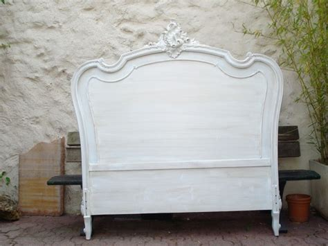 t 234 te de lit style louis xv patin 233 e gris perle meubles