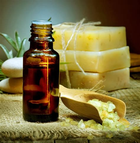 Handmade Spa Products - essential oils in handmade soap bath and spa