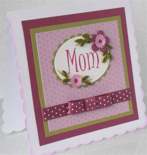 Simple Handmade Mothers Day Cards - 17 best images about cards mothers day flower bouquets