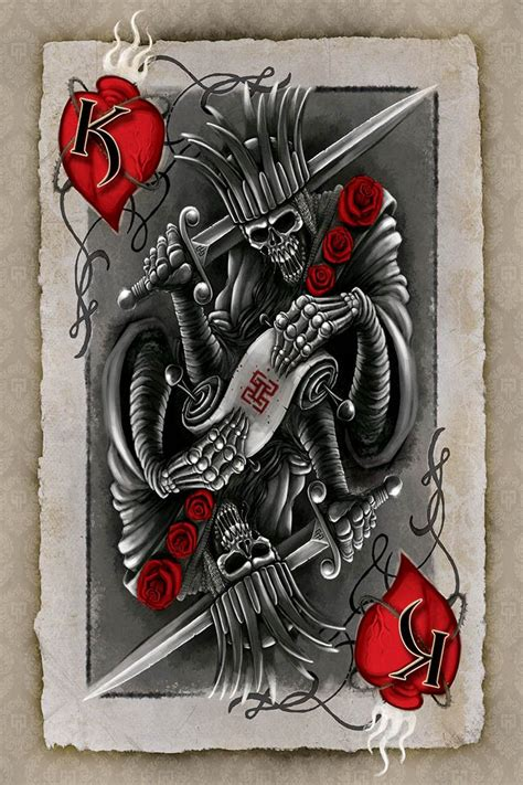 king of hearts card tattoo google search tattoos