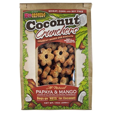 mango and dogs k9 granola factory coconut crunchers mango and papaya treats naturalpetwarehouse