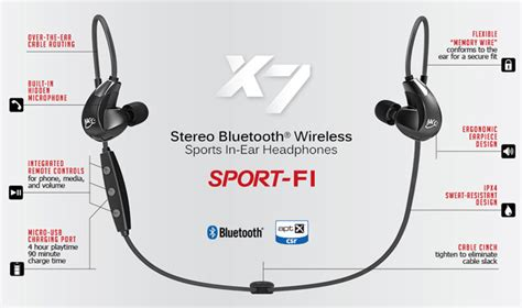 Meelectronics Sport Fi Stereo Bluetooth Wireless Sports In Ear Earphones With Memory Wire X6 meelectronics sport fi x7 stereo bluetooth wireless sports in ear hd headphones with memory wire