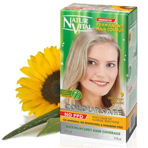 ppd free hair color ppd free hair dye naturvital coloursafe light golden
