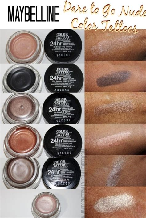 color tattoo maybelline 32 best maybelline color eyeshadow images on