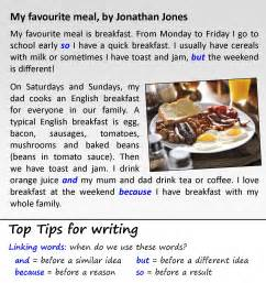 Favorite Food Essay Writing by My Favourite Meal Learnenglish Council