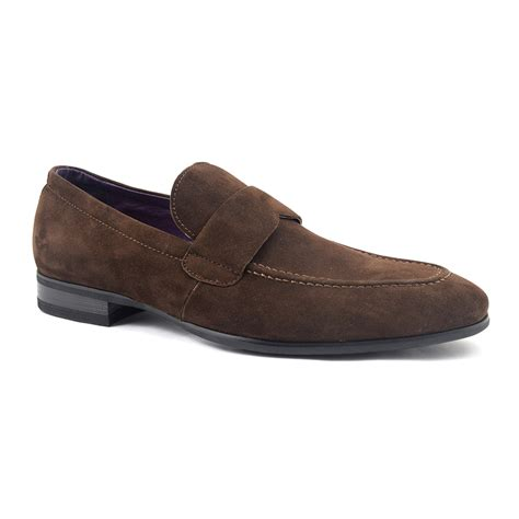 Unify Suede Uk44 shop brown suede loafer for gucinari