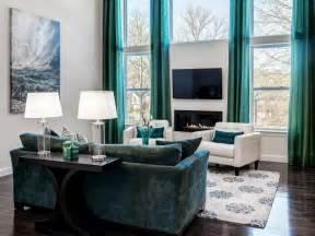 elegant turquoise living room hgtv