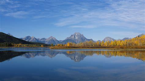 wallpaper mountain range lake reflections mountains