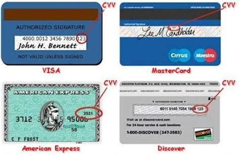 Sle Credit Card Number With Cvv Cvv Card Verification Value