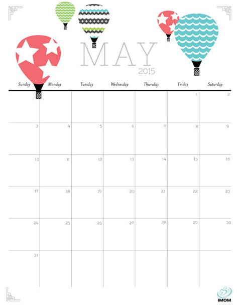 printable calendar imom cute and crafty 2015 printable calendar