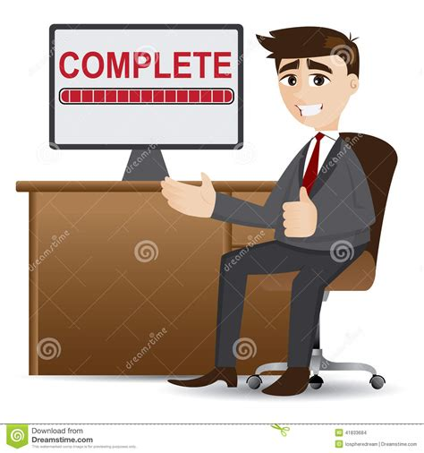 the complete illustrations businessman with complete process stock vector